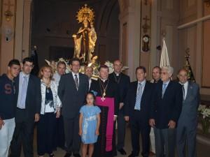 Con Mons. Martínez Camino, Obispo Auxiliar de Madrid. 2011